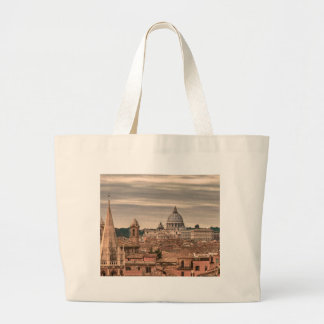 Rome Aerial View From Monte Pincio Sightseeing Large Tote Bag