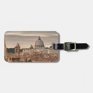 Rome Aerial View From Monte Pincio Sightseeing Luggage Tag