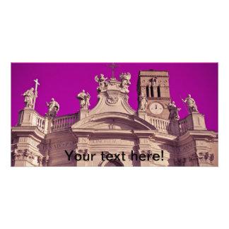 Rome architecture customized photo card