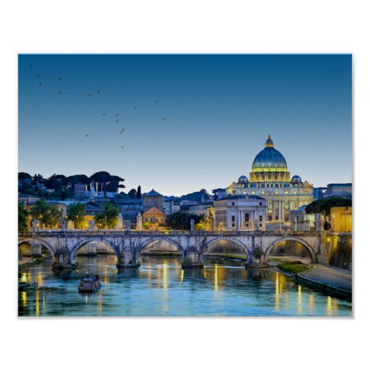 ROME AT DUSK POSTER
