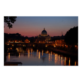 Rome at Dusk Print