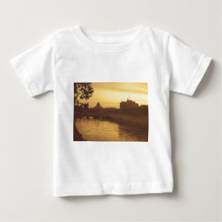 Rome at sunset, River Tiber and St Peter's Baby T-Shirt