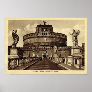 Rome, Castel Santa Angelo Poster