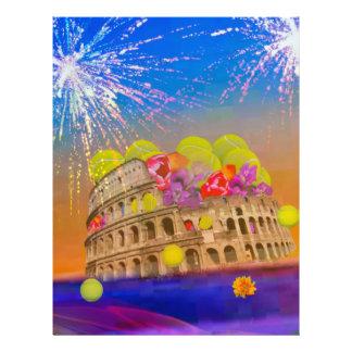 Rome celebrates season with tennis balls, flowers letterhead