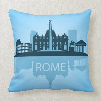 Rome city silhoeutte art throw pillow