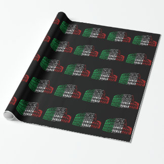 Rome Coliseum Italian Flag Wrapping Paper
