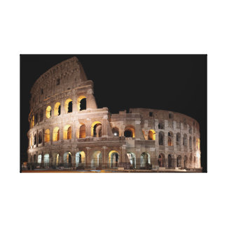 Rome: Colosseum by Night Canvas Print