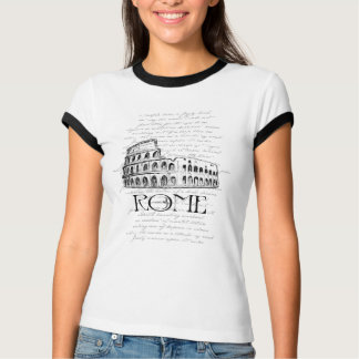 "Rome ""Colosseum"" Digital Typography Collage T-Shirt"