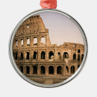 ROME COLOSSEUM Silver-Colored ROUND ORNAMENT