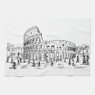 rome colosseum towels