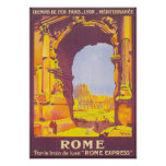 Rome Express Vintage Travel Poster