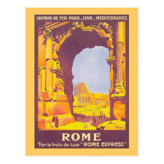 Rome Express Vintage Travel Poster Post Cards