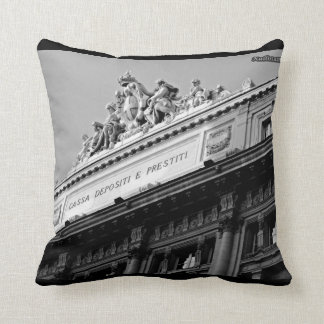 Rome forever! Black and White! Throw Pillow