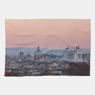 Rome from Gianicolo panorama at sunset Towel