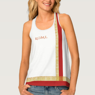 Rome funny one-of-a-kind customizable tank top