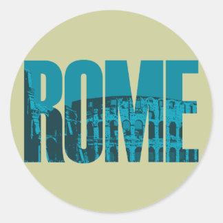 Rome Graphic Classic Round Sticker
