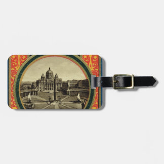 Rome, guide book cover 1900 bag tag