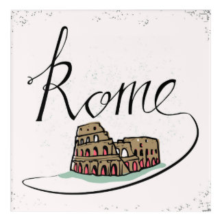 Rome Hand Lettered Design Acrylic Wall Art