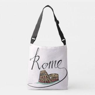 Rome Hand Lettered Design Crossbody Bag