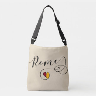 Rome Heart Bag, Italy, Roman Flag Crossbody Bag