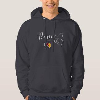 Rome Heart Sweatshirt, Italy, Roman Flag Hoodie
