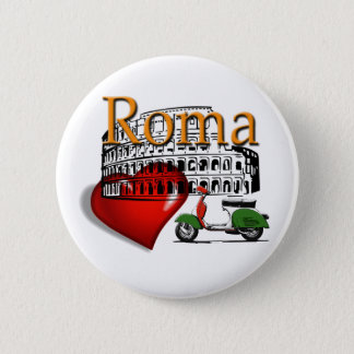 Rome in my Heart 2 Inch Round Button