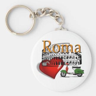 Rome in my Heart Keychain