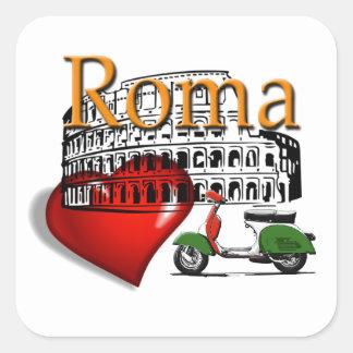Rome in my Heart Square Sticker