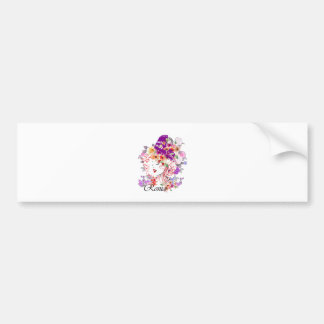 Rome in Woman Bumper Sticker