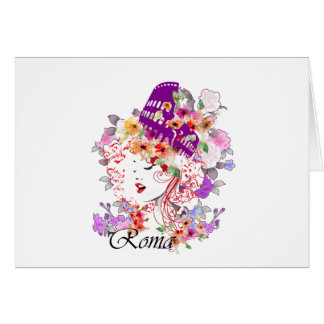 Rome in Woman Card