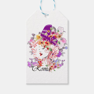 Rome in Woman Gift Tags