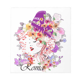 Rome in Woman Notepad