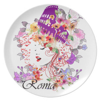 Rome in Woman Plate