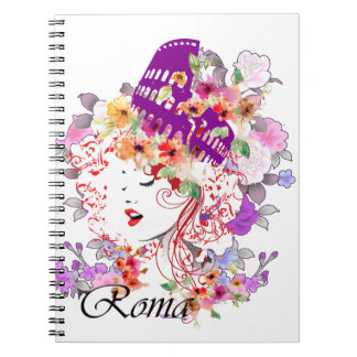 Rome in Woman Spiral Notebook