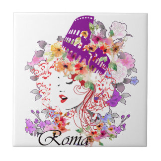 Rome in Woman Tile