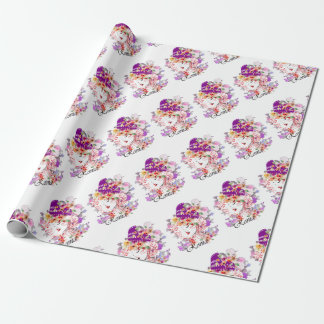 Rome in Woman Wrapping Paper