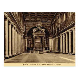 Rome,Inside Santa Maria Maggiore Postcard