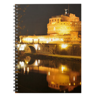 Rome, Italy at night Spiral Notebook