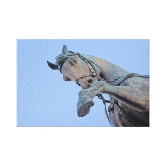 Rome Italy - bronze horse Canvas Print