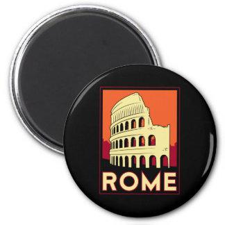 rome italy coliseum europe vintage retro travel 2 inch round magnet