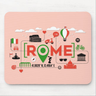 Rome, Italy Iconic Symbols Mouse Pad