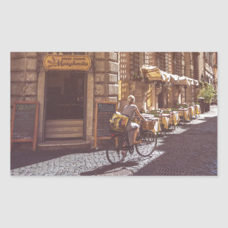 Rome Italy Italian Grocery Getter Bike Cobblestone