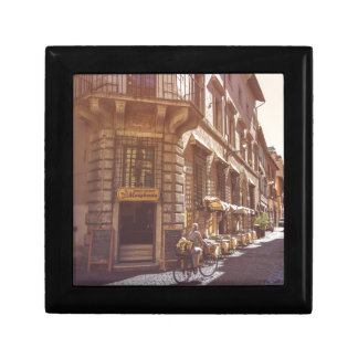 Rome Italy Italian Grocery Getter Bike Cobblestone Jewelry Boxes