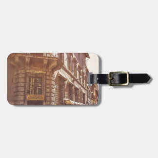 Rome Italy Italian Grocery Getter Bike Cobblestone Luggage Tag