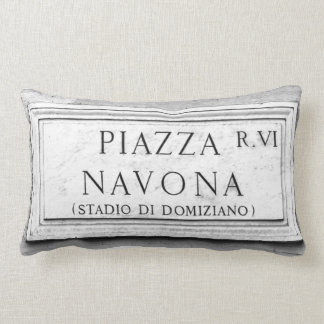 Rome, Italy - Piazza Navona Lumbar Pillow