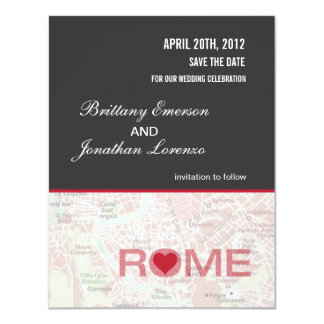 Rome Italy Save the Date Announcement