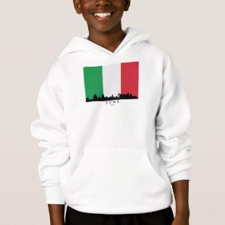 Rome Italy Skyline Italian Flag