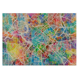 Rome Italy Street Map Cutting Board