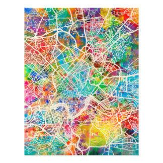 Rome Italy Street Map Full Color Flyer