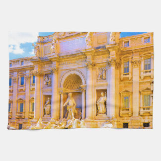 Rome, Italy - Trevi Fountain Hand Towel